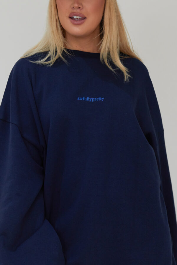 Awfully Pretty0500 600x900 - Oversized Jumper Dress in Navy