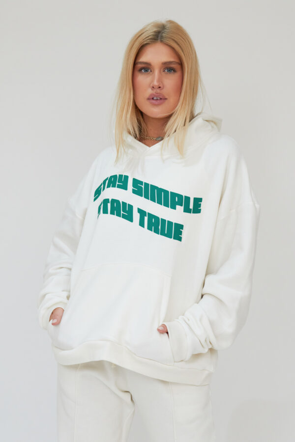 Awfully Pretty0502 1 600x900 - Stay Simple Stay True Hoodie in Ecru