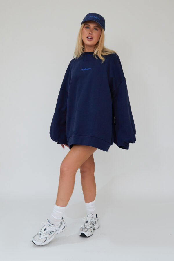 Awfully Pretty0503 600x900 - Oversized Jumper Dress in Navy
