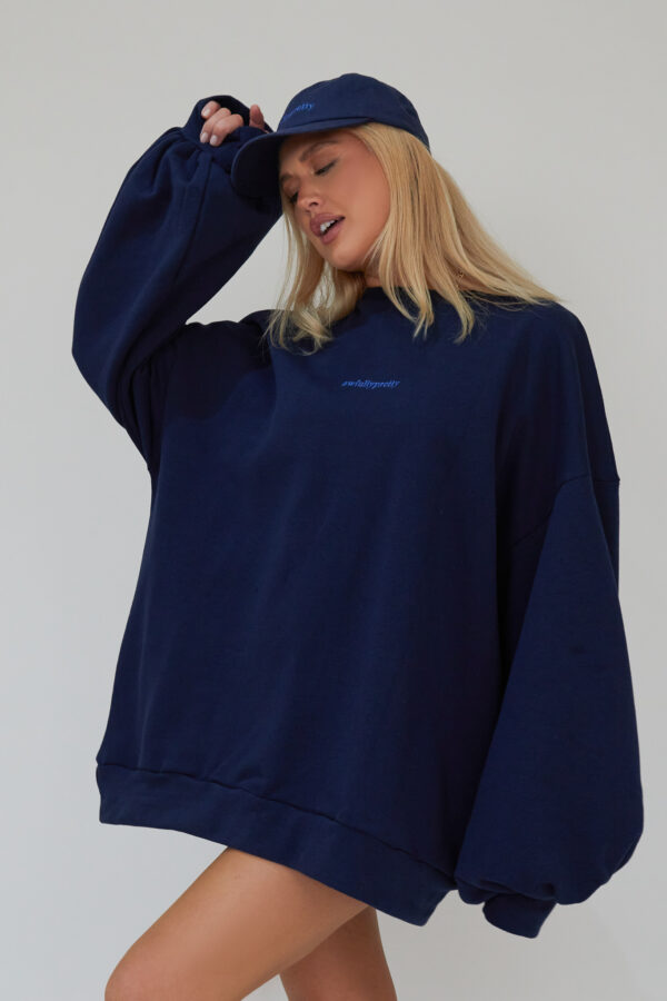 Awfully Pretty0504 600x900 - Oversized Jumper Dress in Navy