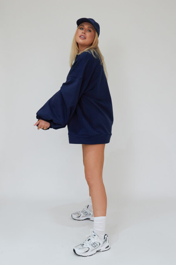 Awfully Pretty0509 600x900 - Oversized Jumper Dress in Navy