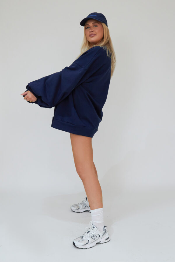 Awfully Pretty0510 600x900 - Oversized Jumper Dress in Navy