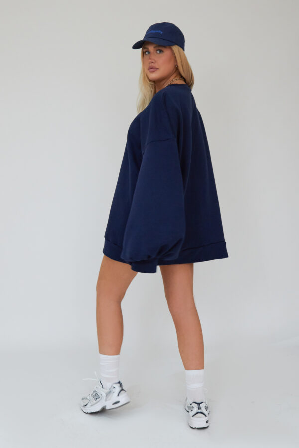Awfully Pretty0514 600x900 - Oversized Jumper Dress in Navy