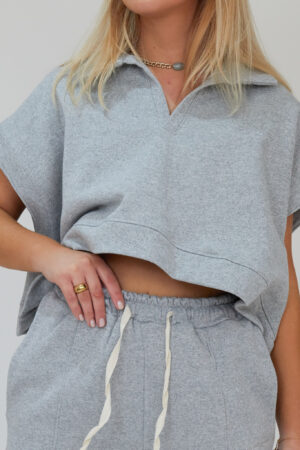 Awfully Pretty0651 300x450 - Oversized Polo Vest in Grey