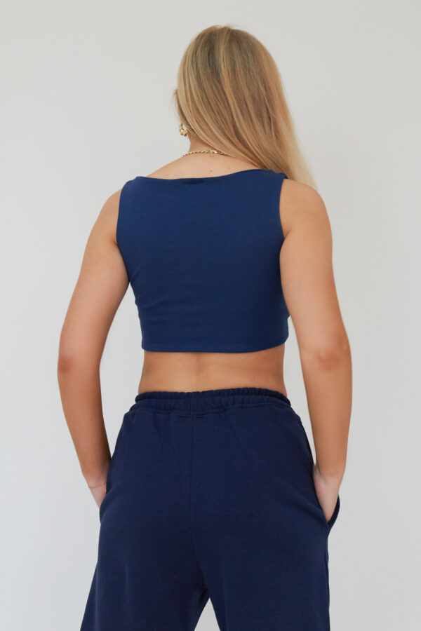 Awfully Pretty0717 600x900 - Cut Out Tie Crop in Navy