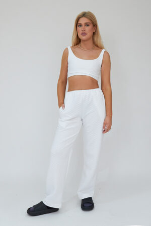 Awfully Pretty0814 300x450 - Quilted Straight Jogger in White