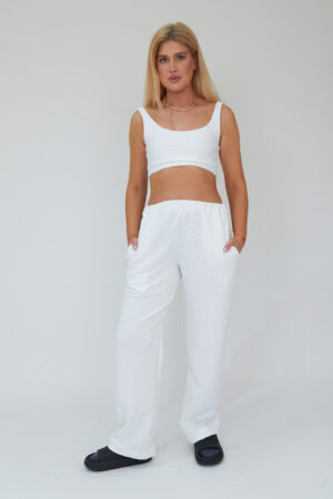 Awfully Pretty0817 300x450 - Quilted Crop Top in White