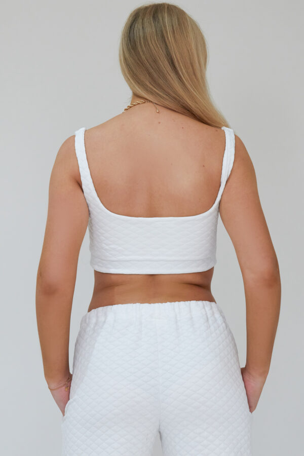 Awfully Pretty0825 600x900 - Quilted Crop Top in White
